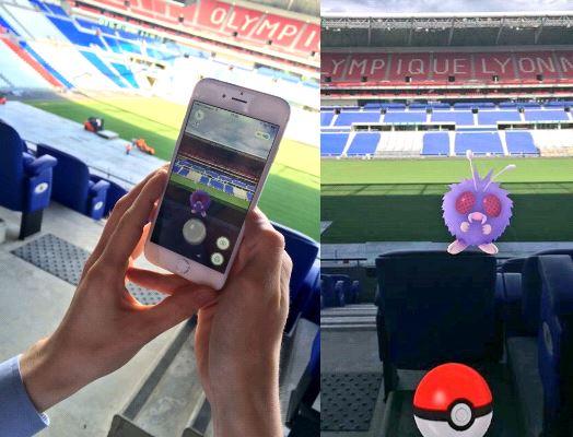 Pokemon Go au stade de Lyon - Parc OL
